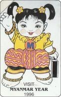 Myanmar  Phonecard Visit Myanmar Puppet - Myanmar