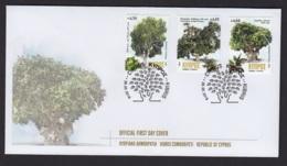 1.- GREEK CYPRUS 2019 FDC CENTENNIAL TREES IN CYPRUS - Chipre (República)