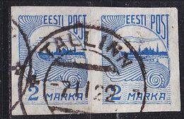ESTLAND ESTONIA [1920] MiNr 0017 A ( O/used ) [01] 2er - Estland