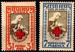 ESTLAND ESTONIA [1921] MiNr 0029-30 A ( **/mnh ) Rotes Kreuz - Estland