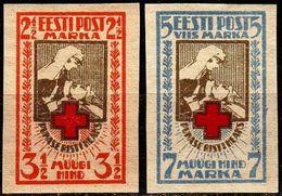 ESTLAND ESTONIA [1921] MiNr 0029-30 B ( **/mnh ) Rotes Kreuz - Estland