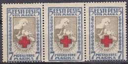 ESTLAND ESTONIA [1921] MiNr 0030 A Uw ( **/mnh ) Rotes Kreuz 3er - Estland