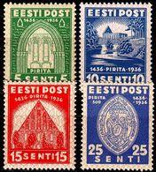 ESTLAND ESTONIA [1936] MiNr 0120-23 ( **/mnh ) Bauwerke - Estland