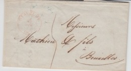 BELGIUM USED COVER 29 JUILLET 1846 STAVELOT BRUXELLES - 1830-1849 (Belgique Indépendante)