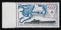 St Pierre & Miquelon P.A. 28 Neuf**  Cote YT 158€ - Poste Aérienne