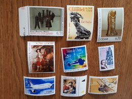 Lot De 9 Timbres Français Neufs Divers 1999/2000 - Collections