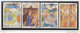 0953 S. Tomè E Principe 1990 Christmas Natale Nativity Scene Full Set Serie Completa - Sao Tomé E Principe