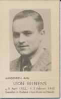 DP Oorlog - WOII - Collaboratie Oostfronter - Leon Bijnens ° Hasselt 1922 + Front Rusland 2/2//1942 - Religione & Esoterismo