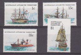 AAT 1980 Ships Of The Antarctic 4v ** Mnh (42439B) - Australisch Antarctisch Territorium (AAT)