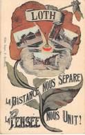 CPA -  Belgique,LOTH La Distance Nous Separe La Pensee Nous Unit ! - Beersel