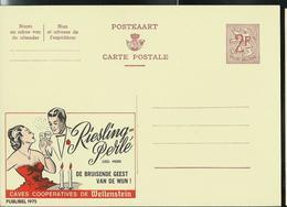 Publibel Neuve N° 1975  ( Riesling-Perlé  Caves De Wellenstein) - Entiers Postaux