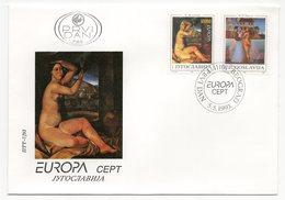 YUGOSLAVIA, FDC, 05.05.1993, COMMEMORATIVE ISSUE: EUROPA CEPT - 1992-2003 Sozialistische Republik Jugoslawien