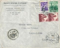 EGYPTE EGYPT Lettre Des Sociétés D'auteurs Françaises Pour Heugel & Cie 1935 - Ägypten