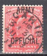 Great Britain 1902 - Army Official - Mi.13 - Used - Dienstpost