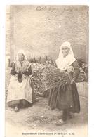 Châtel-Guyon (63) Paysanne Avec Sa Vache à La Fontaine De 1902 - Châtel-Guyon