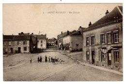 CPA Saint Menges 08 Ardennes Rue Pasteur Animée éditeur A Suzaine Fils à Sedan - Frankreich