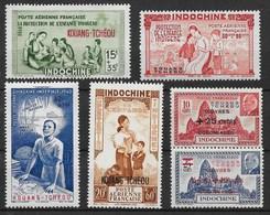 KOUANG TCHEOU N° 156/156 + POSTE AERIENNE N° 1/4 NEUFS ** GOMME SANS CHARNIERE - Kouang-Tchéou (1906-1945)