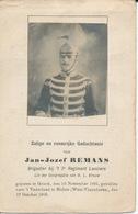 DP Oorlog - WOI - Gesneuveld - Jan Jozef REMANS - Brigadier 2e Reg. Lanciers ° Genk 1891 + Hulste 1918 - Religione & Esoterismo