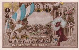 CPA ARGENTINE : 1810 REPUBLICA ARGENTINA 1910 - LA BATALLA DE CHACABUCO - Argentine