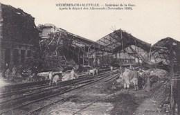 Ardennes - Mézières-Charleville - Intérieur De La Gare - Après Le Départ Des Allemands (novembre 1918) - Charleville