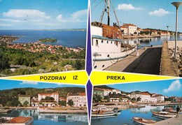 Croatia Preko 1978 / Panorama, Fishing Ship, Boats, Port / Pozdrav, Greetings - Croatie