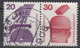 BUND - Michel - 1971 - Nr 696A + 698A - Gest/Obl/Us - [7] République Fédérale