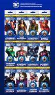 Russia 2019 DC Comics Set 12 X 25 Rubles Superman, Batman, Aquaman, Jocker... - Russland