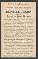 DP Oorlog - WOI - Theophiel DEBAENE ° Beernem 1893 Gesneuveld De Panne 31/12/1917 Vrijwilliger 3e Lanciers - Religione & Esoterismo