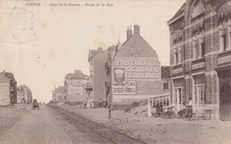 Koksijde , Coxyde , Hotel De La Marine Et Route De La Mer  ; Edit Desaix ,( Trés RARE ) - Koksijde