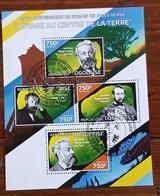 TOGO, Jules Verne, Feuillet 4 Valeurs De 2014. Bloc Oblitéré, Used - Writers