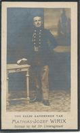 DP Oorlog - WOI - Mathias Jozef WIRIX ° Zonhoven 1890 - Gesneuveld Aan De Molen Van Amervelde Handzame 14/10/1918 - Religione & Esoterismo