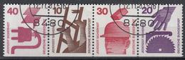 BUND - Michel - 1971 - Nr 699D + 695D + 698D + 696D - Gest/Obl/Us - [7] République Fédérale
