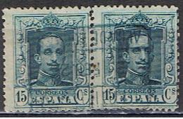 (E 494) ESPAÑA // YVERT 277 + 277 // EDIFIL 315 // 1922-30 - 1889-1931 Royaume: Alphonse XIII