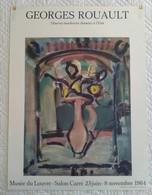AFFICHE ANCIENNE ORIGINALE LITHOGRAHIQUE Georges ROUAULT 1964 Musée Du LOUVRE MOURLOT IMPRIMEUR - Affiches