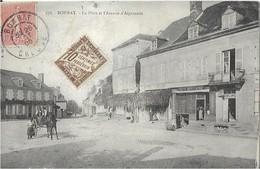 23  BONNAT -  LA PLACE Et L'AVENUE  D'AIGURANDE  , ( LE CAFE Du CENTRE ) - France