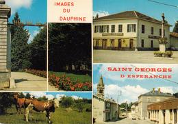 38 - Saint Georges D'Esperanche - Multivues - CPM écrite - Autres Communes