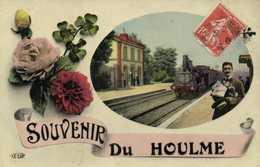 Fantaisie SOUVENIR Du HOULME Gare TRAIN RV - France