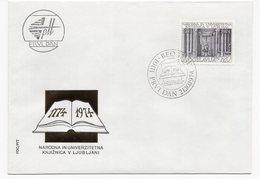 YUGOSLAVIA, FDC, 21.10.1974, COMMEMORATIVE ISSUE: 100 YEARS OF LJUBLJANA NATIONAL LIBRARY - 1945-1992 Socialist Federal Republic Of Yugoslavia
