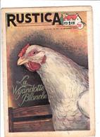 RUSTICA 1954 La Wyandotte Blanche Poule Hen Galinacée Galleon Aviculture Poulytry ( 2 Scans) - Jardinage