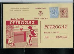 2 Entiers  Privé  Avec Publicité: PETROGAZ + Repiquage Au Verso - Stamped Stationery