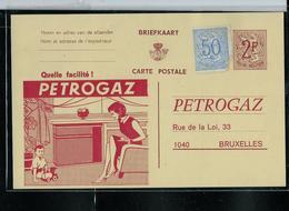 1 Entiers  Privé  Avec Publicité: PETROGAZ + Repiquage Au Verso - Stamped Stationery