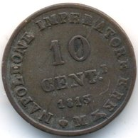 LOMBARDIA 10 CENTESIMI 1813 M - Temporary Coins