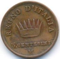 LOMBARDIA 3 CENTESIMI 1813 M - Temporary Coins