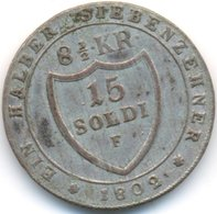 GORIZIA , 15 SOLDI 1802 F - Regional Coins