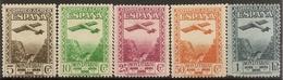 Edifil 650/654* Mh  Centenario Monserrat Aéreo  1931 Serie Completa  1931 NL1304 - 1931-Hoy: 2ª República - ... Juan Carlos I