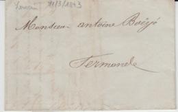 BELGIUM USED COVER 21 MARS  1841 LOUVAIN TERMONDE - 1830-1849 (Belgique Indépendante)