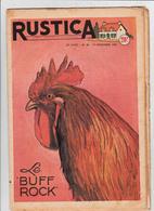 RUSTICA 1955 Le Buff Rock Coq Poule Hen Galinacée Galleon Aviculture Poulytry ( 3 Scans) - Garden