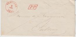 BELGIUM USED COVER 9 JUILLET 1844 VERVIERS JALHAY PP - 1830-1849 (Belgique Indépendante)