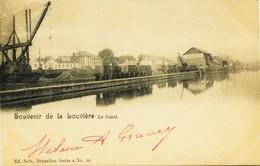 3607  -   Belgique -  Hainaut -  LA  LOUVIERE : Le Train Le Long Du Canal    Circulée En   1901 - La Louvière