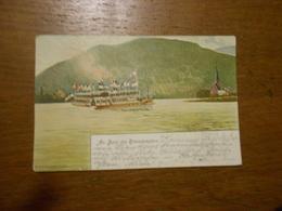 """CPA  Bateau,drapeaux,""""An Bord Des Rheindamofers Signé DT.O   Fr Dietz ,Dusseldorf Bon état - Illustrateurs & Photographes"""